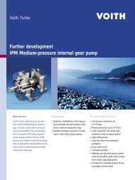 IPM Medium-pressure internal gear pump - Voith Turbo