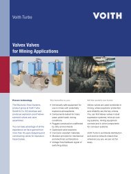 Valvex Valves for Mining Applications - Voith Turbo