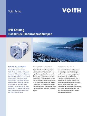 IPH Katalog, Hochdruck-Innenzahnradpumpen - Voith Turbo
