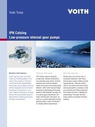 IPN Catalog, Low-pressure internal gear pumps - Voith Turbo