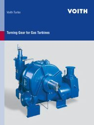 Turning Gear for Gas Turbines - Voith Turbo