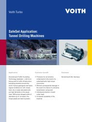 SafeSet Application: Tunnel Drilling Machines - Voith Turbo