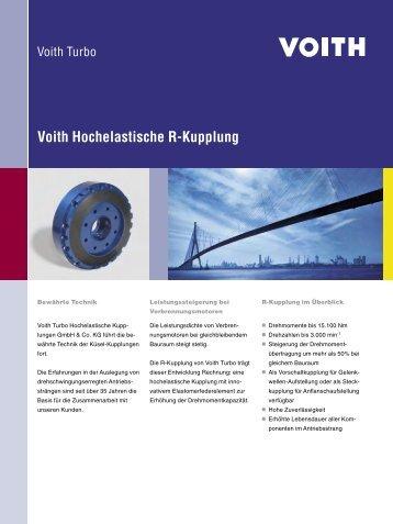 Voith Hochelastische R-Kupplung - Voith Turbo