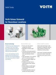 Voith Valvex Solenoid for Hazardous Locations - Voith Turbo