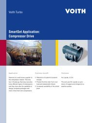 SafeSet Application: Compressor Drive - Voith Turbo