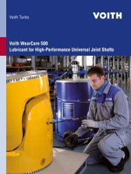Voith WearCare 500 Lubricant for High-Performance ... - Voith Turbo