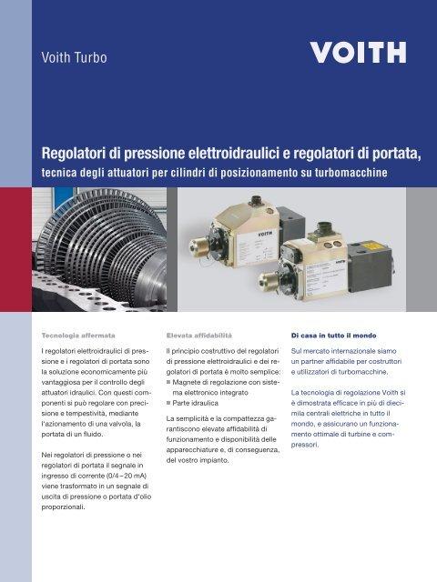 Regolatori di pressione elettroidraulici e regolatori di ... - Voith Turbo