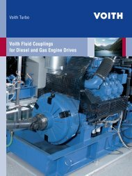 Voith Fluid Couplings for Diesel and Gas Engine Drives - Voith Turbo