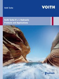 Voith Turbo H + L Hydraulic Products and Applications