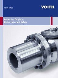 Connection Couplings HyCon, HyLoc and HyGrip - Voith Turbo