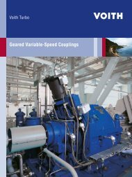 Geared Variable-Speed Couplings - Voith Turbo
