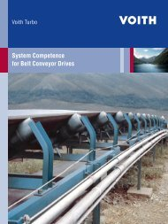 System Competence for Belt Conveyor Drives - Voith Turbo