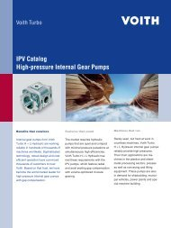 IPV Catalog ? High-pressure Internal Gear Pumps - Voith Turbo