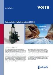 Hydraulische Hubsteuereinheit NG10 - Voith Turbo