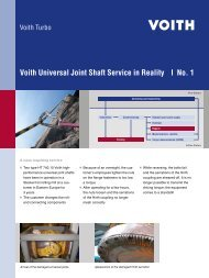 Voith Universal Joint Shaft Service in Reality | No. 1 - Voith Turbo
