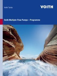 Voith Multiple-Flow Pumps ? Programme - Voith Turbo