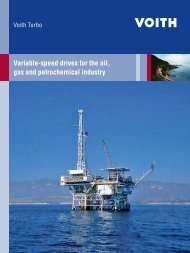 Variable-speed drives for the oil, gas and ... - Voith Turbo