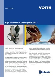 High Performance Punch System HRE - Voith Turbo