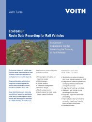 EcoConsult Route Data Recording for Rail Vehicles - Voith Turbo