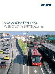Always in the Fast Lane. Voith DIWA in BRT Systems - Voith Turbo
