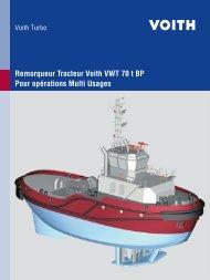 Remorqueur Tracteur Voith VWT 70 t BP Pour ... - Voith Turbo