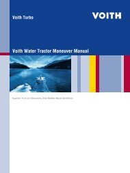 Voith Water Tractor Maneuver Manual - Voith Turbo