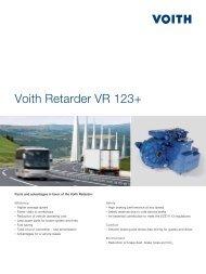 Voith Retarder VR 123+ - Voith Turbo