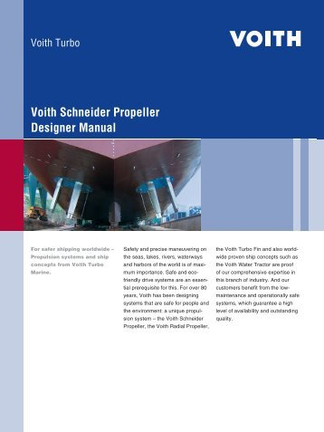 Voith Schneider Propeller Designer Manual - Voith Turbo