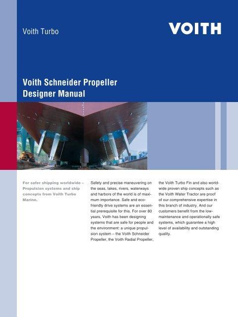 Voith Schneider Propeller Designer Manual - Voith Turbo