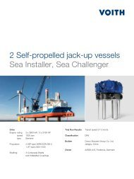 2 Self-propelled jack-up vessels Sea Installer, Sea ... - Voith Turbo
