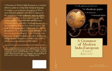 A GRAMMAR OF MODERN INDO-EUROPEAN, Third Edition