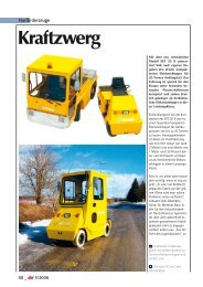 """Kraftzwerg"" – Report on the VOLK Electric Tow Tractor EFZ 20 K"
