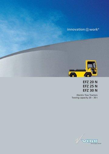 VOLK Electric Tow Tractors EFZ 20 N – EFZ 30 N