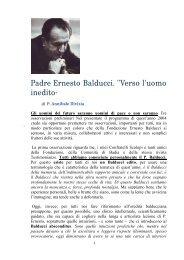 P. Annibale Divizia, Padre Ernesto Balducci