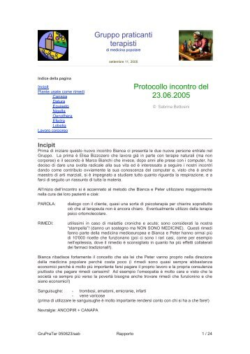 Download protocollo .pdf - Enciclopedia di medicina popolare