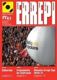 ••• Bilancio Errepi Spa 2010-11 pagina 13 ... - Radio Popolare