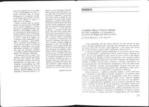 I giorni della Puglia Rossa - Biblioteca del Consiglio Regionale ...