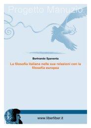 filosofia italiana nelle sue relazioni con la filosofia ... - Liber Liber