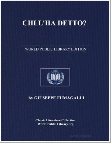 CHI L'HA DETTO? - World eBook Library