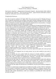 Corte d'Appello di Firenze Sezione I Civile, sentenza n. 1746/2010 ...