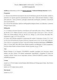 Docente: Andrea Luzzi (Civiltà bizantina – L-FIL-LET/07) - Lettere e ...