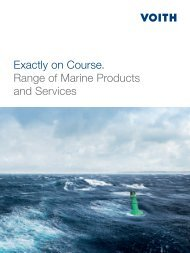 Exactly on Course. Range of Marine Products and ... - Voith Turbo