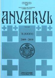 2009-2010 - Facultatea de Teologie -