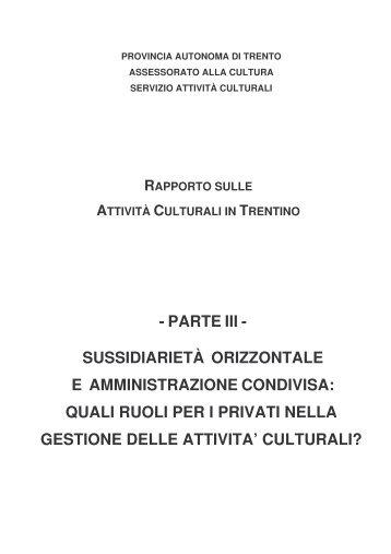 Scarica il rapporto - Trentino Cultura