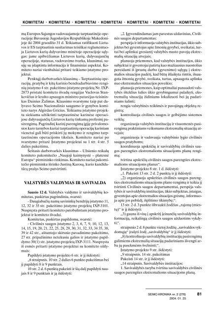 Nr. 2(276) - Lietuvos Respublikos Seimas
