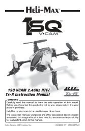 1SQ VCAM 2.4GHz RTF/ Tx-R Instruction Manual - Hobbico