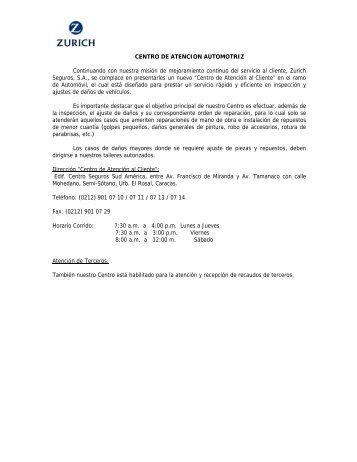 CENTRO DE ATENCION AUTOMOTRIZ - Seferca
