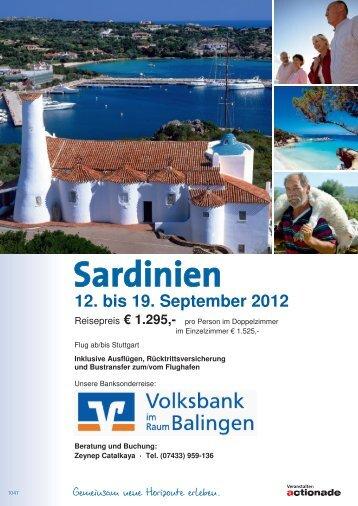 Sardinien - Volksbank Balingen eG