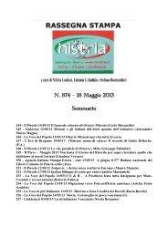 Rassegna stampa 20 maggio 2013 - Arcipelago Adriatico