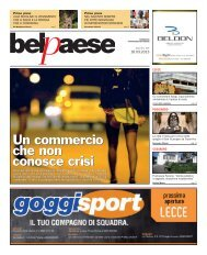 16 marzo 2013 - Bel Paese Web